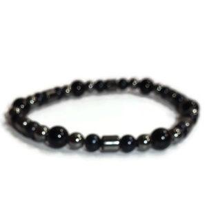 Handmade Beaded Elastic Stretch Bracelet #03